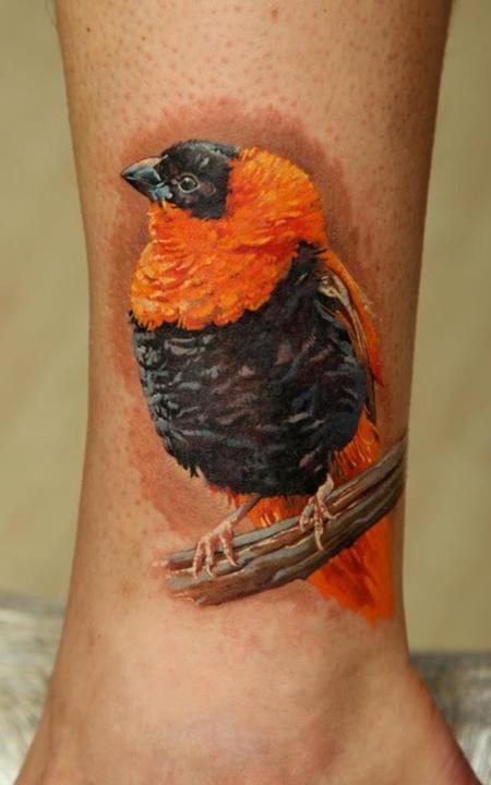 African Bird Tattoo Design